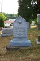 Grave of Henry Seamon (ddsiple) Tags: ohio cemetery metal headstone henry zinc lithopolis seamon whitebronze