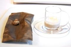 Yogur de ostras con pedro ximenez en tempura
