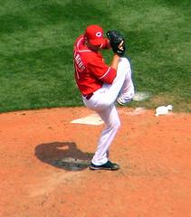 Reds pitcher, #40 Jon Coutlangus