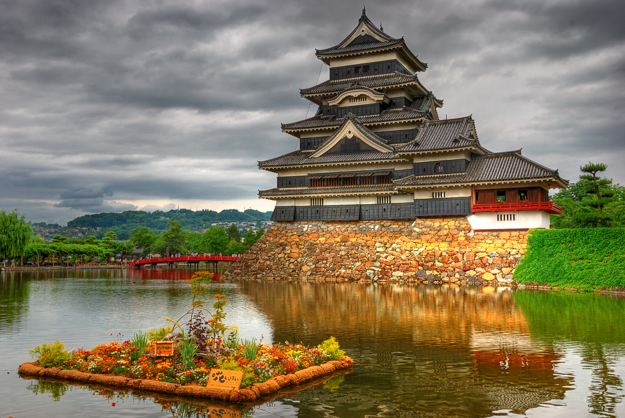 Matsumoto Castle. This historic castle is an original construction, and one of the 4 castles in Japan to be listed as national treasures - the others being Himeji, Inuyama, and Hikone.