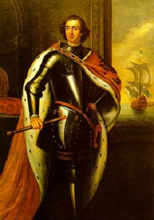 Russian Tsar Peter I, also known as Peter the Great, Пётр I Алексеевич