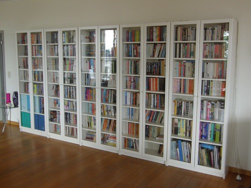 Brussels bookshelves