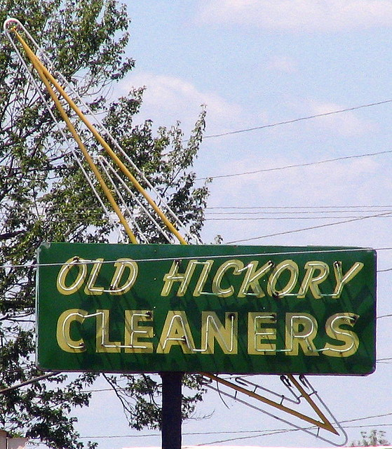 Old Hickory Cleaners sign