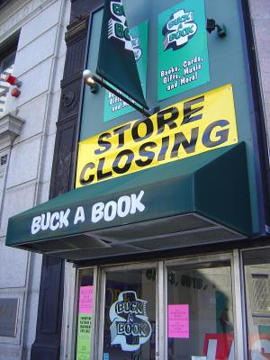 Buck a Book store closing