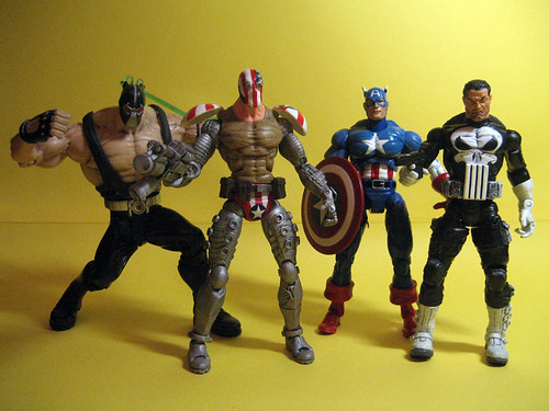 Super Patriot, Bane, Captain America and Punisher
