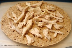 Whole Wheat Chicken Quesadillas: Step One