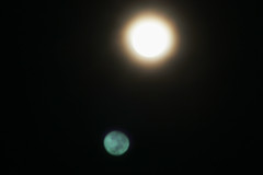 mirror image (i_am_durin) Tags: moon reflection fullmoon lensreflection durinsday