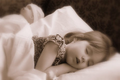 IMG_0515 (j.bloss) Tags: sleeping sepia littlegirl girlwithdoll