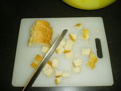 diced baguette