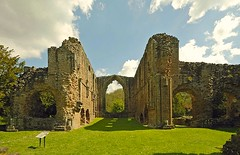 The ruins of Lilleshall Abbey, Shropshire