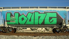 young (Making Stuff Blog) Tags: trains bnsf boxcarart fr8trains texasgraff texasbenching texasfr8s texasgraffitifreighttrains goldenwestservicefr8s
