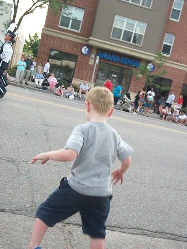 Henry dancing at parade.