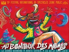 Affiche Festival Au Bonheur des Momes - 2010