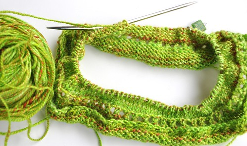 bright green cowl-frogged