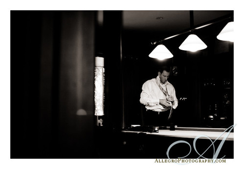 private-estate-wedding-boston-ma-waterfront- groom getting ready in the billiard room