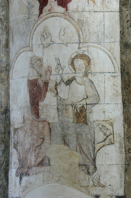 Coronation of the Virgin, st albans, medieval wall painting, fresco