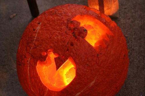10/31/10: Katherine's Vampire Pac-Man Pumpkin