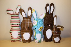 IMG_2727.2010.03.plushies (tlamb) Tags: bunny bunnies toy soft handmade sewing craft sew plushies homemade stuffedanimals rabbits collectible sewingmachine crafting plushy babytoy babygift stuffedplushie