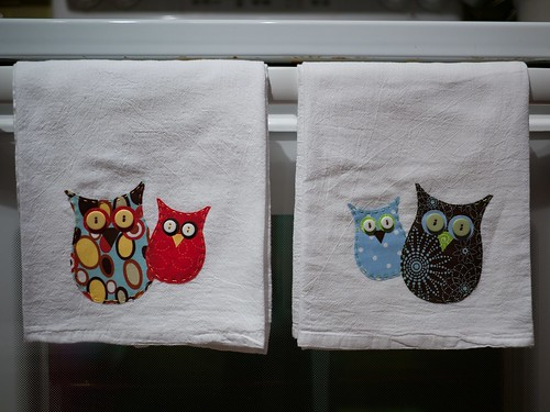 Owl towels