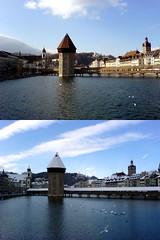 Luzern (Vallesana) Tags: torre k750i watertower luzern lucerne wasserturm lucerna chapelbridge kappelbrcke pontedilegno