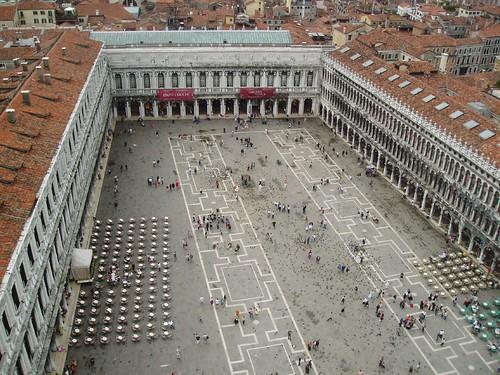 площадь Святого марка в Венеции с высоты