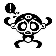 monkey (medialunadegrasa) Tags: illustration monkey juancarlos