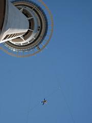 sky tower bungy (gervo1865_2 - LJ Gervasoni) Tags: new blue sky building tower island interestingness jumping north explore auckland zealand bungy intersting i500 highestposition390ontuesdayjuly32007 photographerljgervasoni