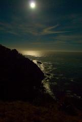 blue moon over big sur (moebyal) Tags: california night coast nikon surf waves bigsur fullmoon pch pacificocean handheld d200 pacificcoast bluemoon pacificcoasthighway 1735