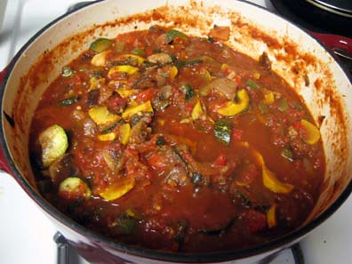 The Stew made of the veggies