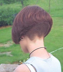 Steep angled bob (hairxstatic) Tags: shorthair bobbedhair clipperednape invertedbobs buzzednape