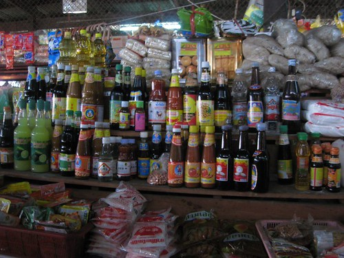 Sauces at the market