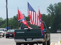 Redneck flying the colors
