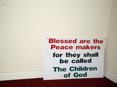 A SIGN ON THE FLOOR OF THE CHURCH AT MOUNT CARMEL