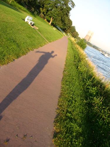 Morning shadows near Koblenz, Germany