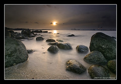 Dry Ice Sunset (DanielKHC) Tags: longexposure sunset sea sun ice beach digital landscape interestingness high sand bravo singapore rocks industrial dynamic sony dry explore malaysia punggol alpha range milky dri hdr silky a100 blending dynamicrangeincrease supershot magicdonkey interestingness64 7exp nohdr superaplus aplusphoto danielcheong flickrplatinum holidaysvancanzeurlaub infinestyle danielkhc superdaniel explore29jul07