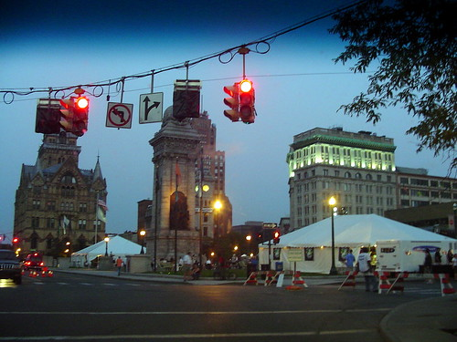 Syracuse on the night of the Jazz Festival