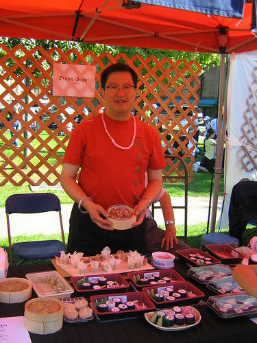 Walter Quan and his famous sushi candles - photo by Todd Wong IMG_1466 by Toddish McWong.