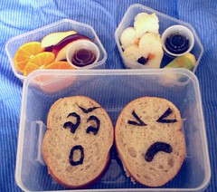 fit n fresh rush job (Sakurako Kitsa) Tags: orange apple sushi lunch sandwich caramel bento tuna sakurako obento sloppy kitsa sakurakokitsa