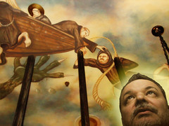 Saint Zeldman & The Dragon (eeblet) Tags: irish chicago saint pub mural ship dragon ceiling jeffrey legend myth zeldman aneventapart aeachicago07 webstandardsarenotamyth adactio:post=1338
