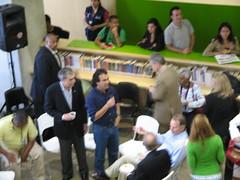 Alcalde Fajardo en la biblioteca españa.