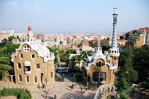 barcelona in gaudi buildings