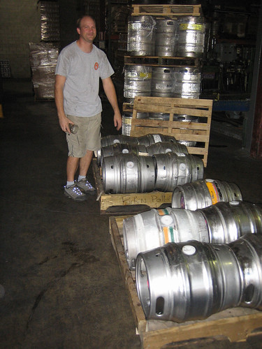 Clipper City warehouse manager with casks