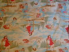 Retro frontier girls fabric