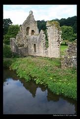 Reflected Ruins (Heaven`s Gate (John)) Tags: england reflection history water architecture stream yorkshire ruin fountainsabbey nationaltrust englishheritage johndalkin heavensgatejohn onlythebestare