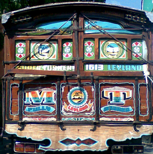 Painted Wooden Truck
