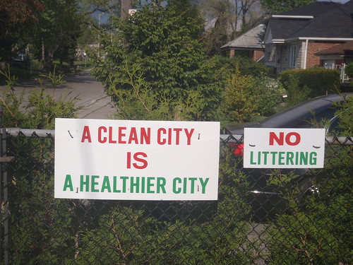 A Clean City is A Healthier City, No Litering