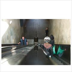 Danger is all around you... (Toni_V) Tags: leica city urban station architecture reflections square schweiz switzerland dof suisse zurich escalator helmet perspective bahnhof rangefinder summicron calatrava zürich fullframe svizzera allrightsreserved 2010 m9 rolltreppe stadelhofen summicronm toniv vollformat messsucher 100509 ©toniv leicam9 1235asph aweekendwiththeleicam9 rangefindercameratest pleasedontusemyimagesonwebsitesblogsorothermediawithoutmypermission©allrightsreserved