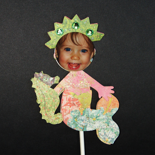 Cupcake toppers for a cute mermaid party