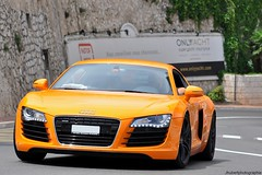 Orange Audi R8 V8 (Eden.cars) Tags: orange black paris beach hotel louis nikon casino monaco mc carlo monte xv hermitage audi rims s3 rare supercar v8 v10 s4 rs4 2010 metropole s5 quattro r8 rs6 s6 jantes noires d90 rs5