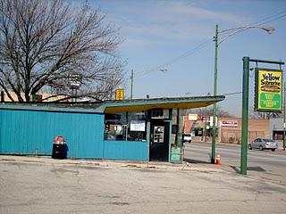 The Yellow Submarine drive in restaurant on South Archer Avenue. (Closed.) Chicago Illinois. April 2007.
